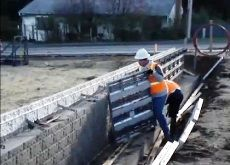 Encofrados Video - Construccion de muro perimetral de ladrillo